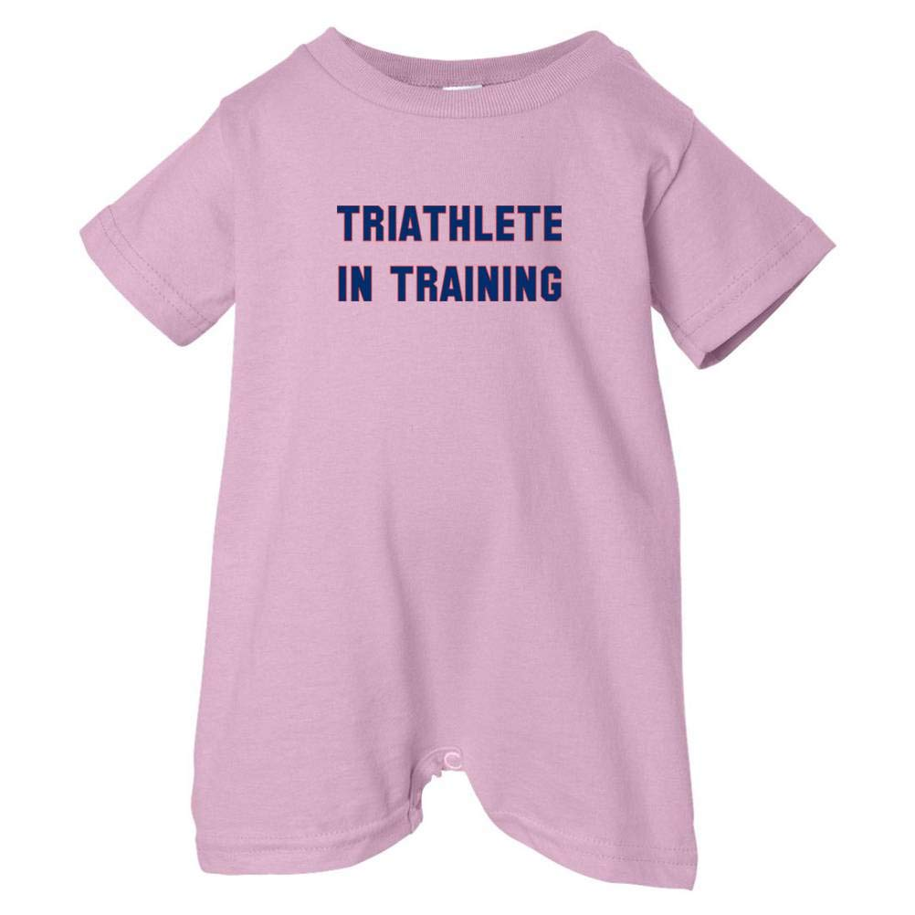 Pink, 12 Months Mashed Clothing Unisex Baby Triathlete In Training T-Shirt Romper