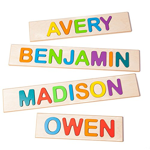 Fat Brain Toys Personalized Name Puzzle - NEW!