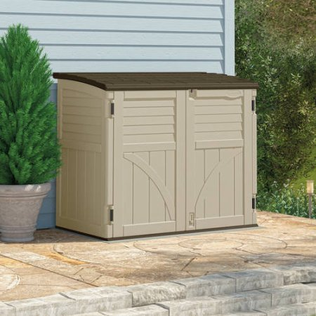 Merveilleux Outdoor Weatherproof Garden Storage Shed Box  Perfect Storage Solution  Garden Tools Trash Cans Bikes Pool