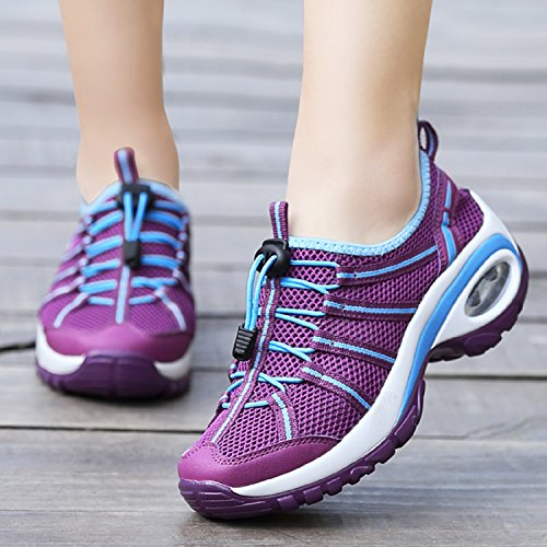 Sports Maille Fitness up Baskets Lace Pourpre Trainers Chaussures Femmes Running LILY999 Gym Athlétique Casual wtvTv5