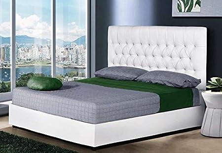 Letto Contenitore Ecopelle Offerte.Testiera Letto Matrimoniale In Ecopelle Bianco Con Box Contenitore