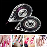 5 Pack Portable Clear Nail Art Striping Tape Line Case Tool Sticker Box Holder
