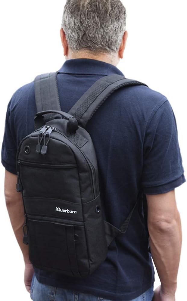 """iGuerburn Oxygen Tank Backpack Portable Oxygen Cylinder Carrying Carrier Bag Medical O2 Tank Holder for Size M2, A/M4, ML6, B/M6, M7, C/M9 (Do not fit""""D"""" Tanks)-Black"""