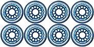 Blue Bellies 8 Inline Skate Wheels 76mm 78a, Clear/Blue(BB-7678-1)