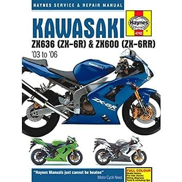 2003-2006 Kawasaki Ninja 636 ZX6 ZX6R ZX6RR HAYNES MANUAL 4742 on