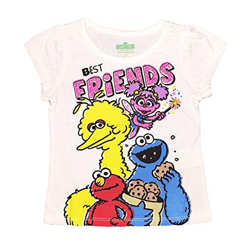 Sesame Street Little Girls Toddler Best Friends T Shirt (2T)