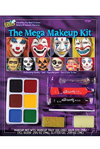 [Fun World Halloween Mega Make Up Kit] (Different Barbie Costume Ideas)
