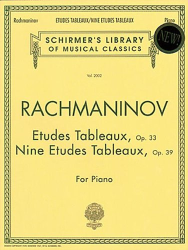 Etudes Tableaux, Op. 33 & 39 Schirmer Library of Classics Volume 2002 Piano Solo (Schirmers Library of Musical Classics) (Tapa Blanda)