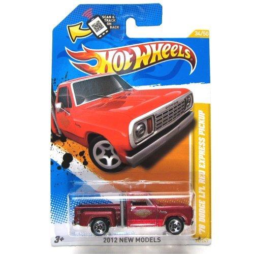 Hot Wheels 2012 New Models 78 Dodge Li'l Red Express Pickup 34 of 50 Red