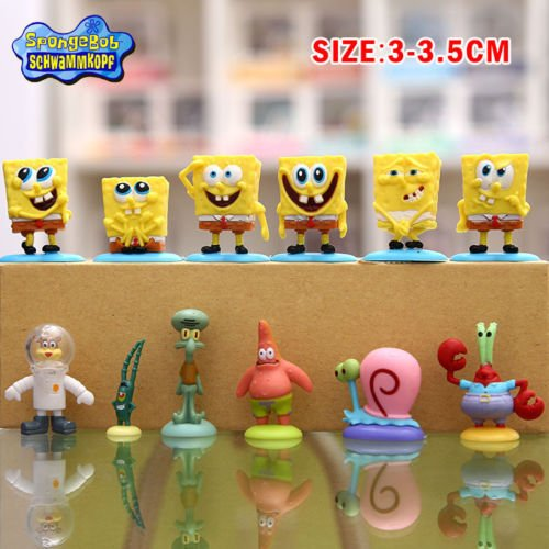 TONGROU 12pcs Set SpongeBob Squarepants Patrick Star Squidward Tentacles PVC - Sunglasses D&g Canada