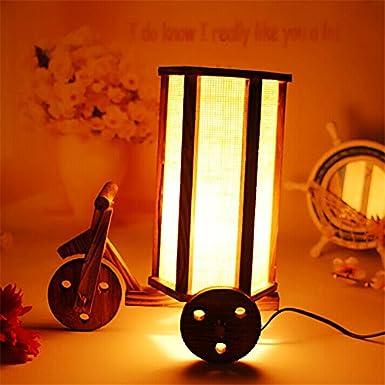 Lámpara simple moderno creativo romántico vintage hechos a mano madera muebles/triciclo/tamaño: 29 * 24. 5 * 17 cm