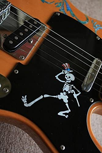 Skeleton Inlay Sticker Decal For Guitar Grateful Dead Jerry Garcias