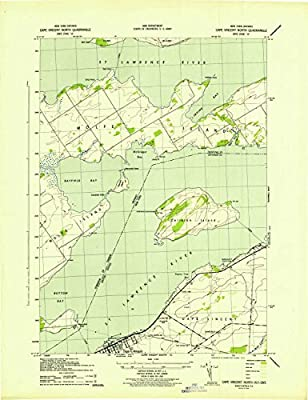 YellowMaps Cape Vincent North NY topo map, 1:31680 scale, 7.5 X 7.5 Minute, Historical, 1942, 21.8 x 16.8 IN