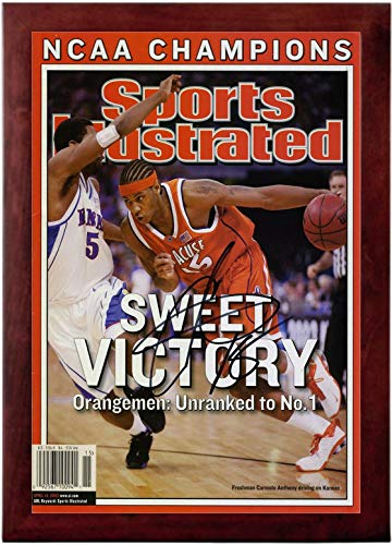 Carmelo Anthony Sports Illustrated Autograph Replica Super Print - Syracuse National Champs - 4/14/2003 - Framed