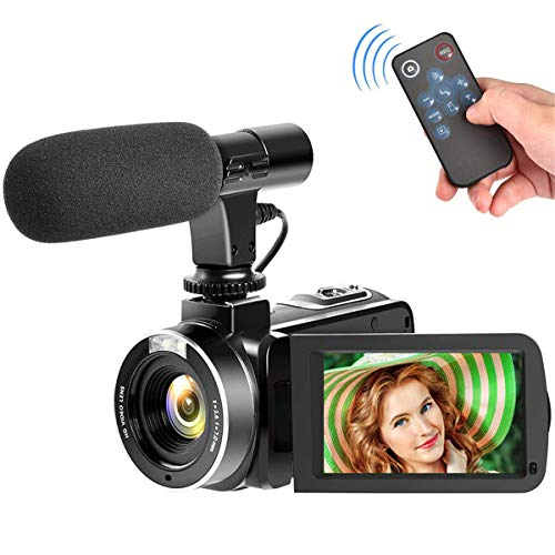 "Video Camera Camcorder with Microphone Digital Camera Full HD 1080p 30FPS 3.00"" Touch Screen Vlogging Camera for YouTube"