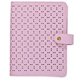 (US) Labon's 6 Round Ring A6 Purple Binder Button Hollow Filofax Planner with 2018 2019 2020 Calendar/Monthly Weekly Daily Schedule/Telephone & Address/Personal Memo 120 Sheet Premium Thick Paper