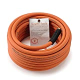 Rubber Air-Hose, 3/8 in. x 50 FT.1/4 in. MNPT Fittings, 300 PSI Industrial Non-Kinking Flexible Hose by Giraffe For Sale
