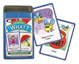 """Ask and Answer """"What?"""" Questions Card Deck - Super Duper Educational Learning Toy for Kids"""