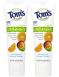 Tom's of Maine Anticavity Fluoride Children's Toothpaste, Outrageous Orange-Mango - 4.2 oz - 2 pk
