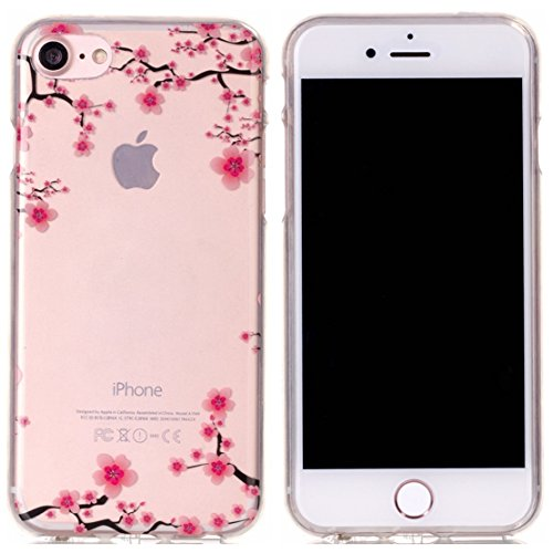 Voguecase® für Apple iPhone 7 4.7 hülle, Schutzhülle / Case / Cover / Hülle / TPU Gel Skin (Pflaumen 08) + Gratis Universal Eingabestift