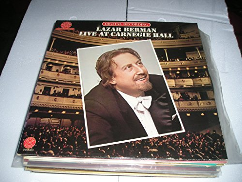 Lazar Berman Live At Carnegie Hall March 11, 1979 by Columbia CBS