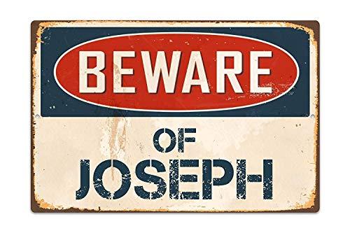 ジョセフに注意してください 金属板ブリキ看板注意サイン情報サイン金属安全サイン警告サイン表示パネル