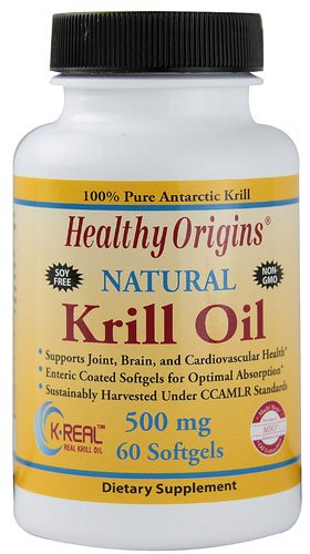 Healthy Origins Natural Krill Oil -- 500 mg - 60 Softgels - 3PC by Healthy Origins