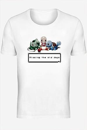 Pokemon Missing The Old Days Camiseta personalizada impresa para hombres | Algodón 100% superior peinado / anillado | Camiseta con estilo de calidad superior XX-Large: Amazon.es: Ropa y accesorios