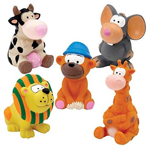 Zanies Latex Squeaker Dog Toy- Zoo Animals Medium(1 ()