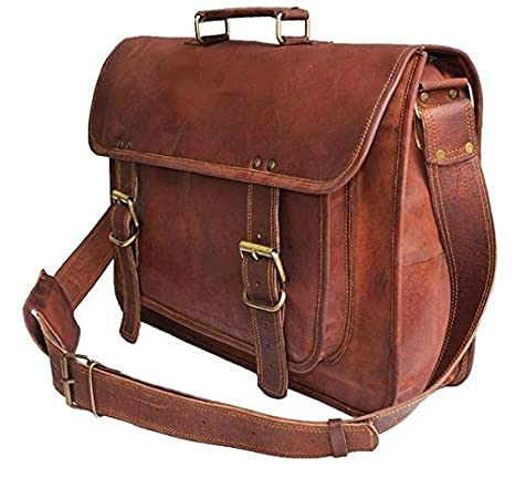 193784276ec2 Znt Bags, 15 inch Genuine Leather Laptop Office Messenger Bag for ...