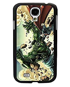 Samsung Galaxy S4 mini Funda Case - Hulk Marvel Comics Cartoon Anime Theme [Anti Shock] Back Film Protector Skin for Galaxy S4 mini