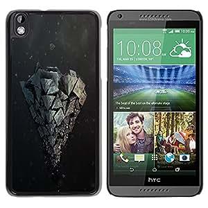 Rock Formation - Metal de aluminio y de plástico duro Caja del teléfono - Negro - HTC DESIRE 816