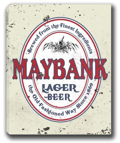 maybank-lager-beer-stretched-canvas-sign-16-x-20