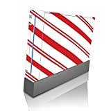 Christmas Red Candy Cane Wii Console Vinyl Decal Sticker Skin by Moonlight Printing