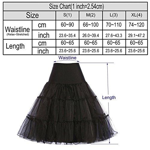OKDRESS - Enaguas cortas - enaguas - para mujer negro