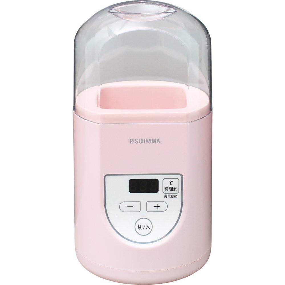 アイリスオーヤマ ヨーグルトメーカー プレミアム タイマー付き 簡単操作 温度調節機能付き 2色展開 ホワイト/ピンク