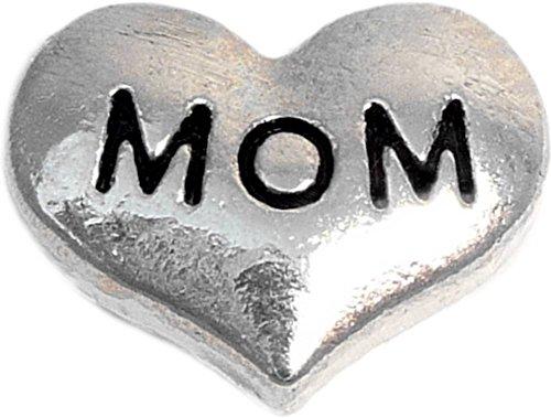 Mom Silvertone Heart Floating Locket Charm H9823