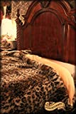 Plush Faux Fur King / Queen Size Bedspread / Throw Blanket / Luxury Leopard Stripe Faux Fur