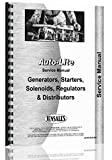 Auto-Lite all Distributors, Generators, Starters, Regulators Service Manual