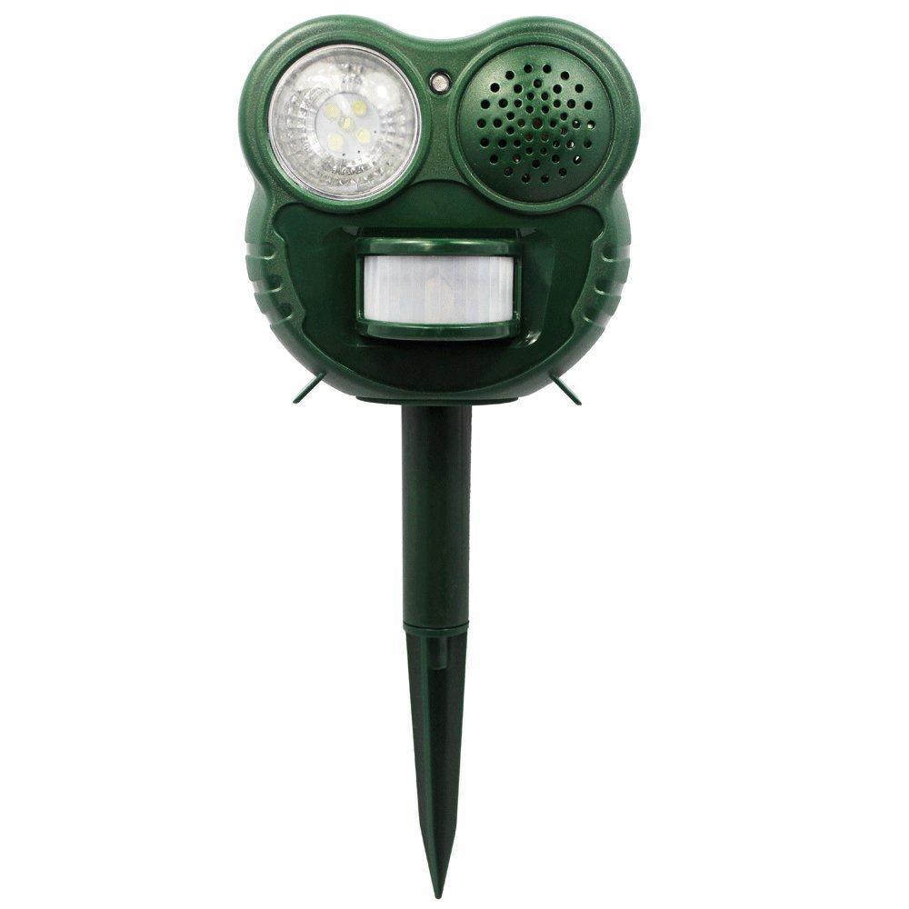 Chasse Nuisibles - Flash 5 LED - Ultra sonique - Détecteur de Mouvements Fishtec ® C0503