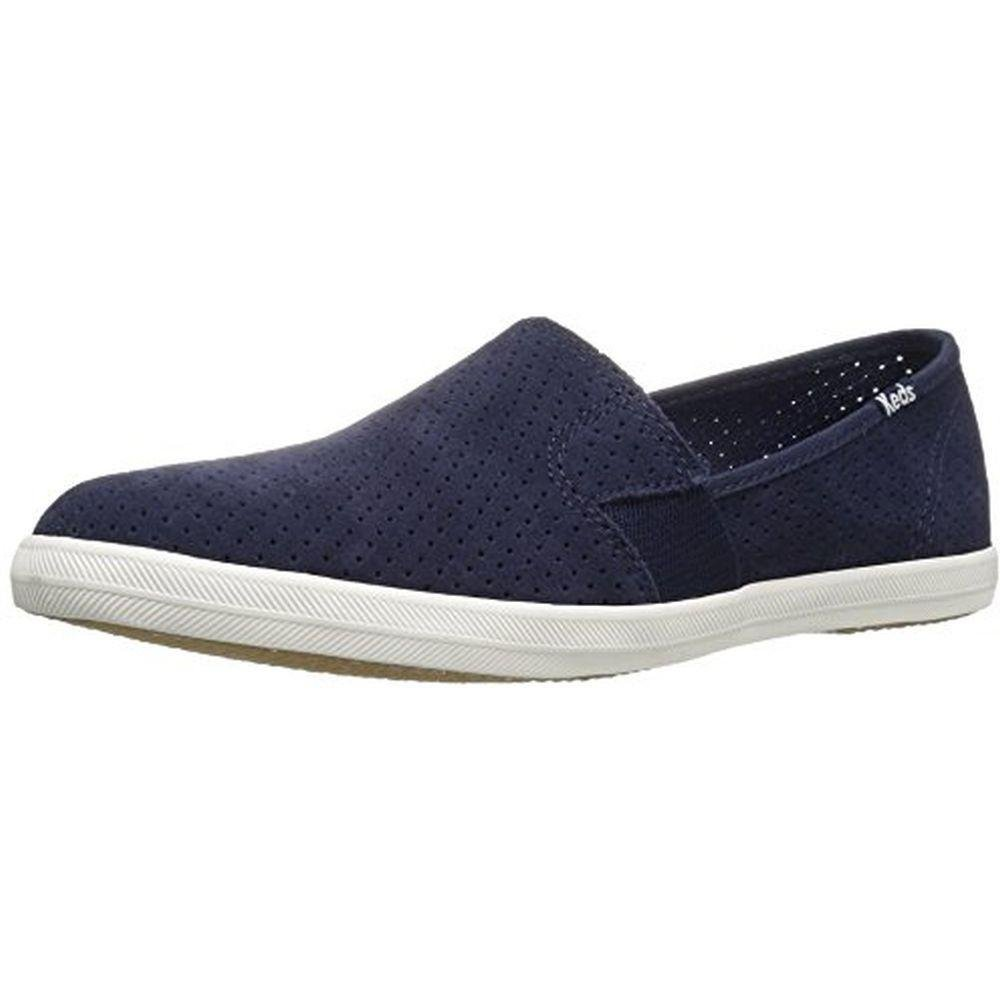 Keds Women's Chillax a-Line Perf Suede Fashion Sneaker, Peacoat Navy, 8.5 M US
