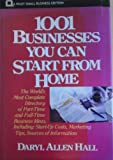 One Thousand One Businesses You Can Start from Home, Hall, Daryl, 0471558486