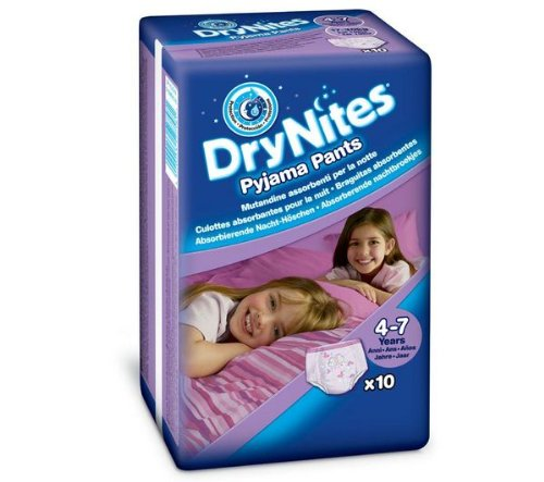 Huggies DryNites Girl 4-7 yrs Lot de 10 gants de toilette 5029053527581