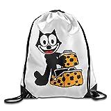 Zhanzy Felix The Cat 15 Large Drawstring Sport Backpack Sack Bag Sackpack