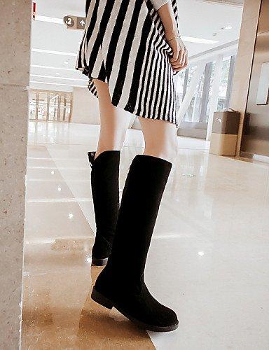 Vellón Uk7 Botas Zapatos Cn42 Moda Beige 5 Vestido Xzz 10 Redonda Eu41 Eu39 Black Mujer Cn39 8 Tacón 5 A Punta Casual De us8 La Azul Uk6 Negro Bajo Beige us9 pOOwd0x