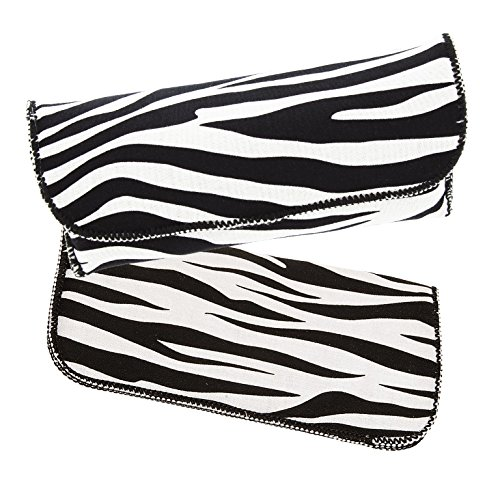 Women's Fashion Eyewear Case Combo Pack For Small To Large Glasses, Zebra Print (Zebra Print Glasses)