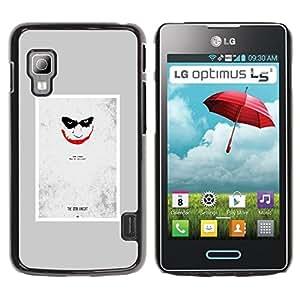 iKiki Tech / Estuche rígido - Scary Face Creepy Smile Poster - LG Optimus L5 II Dual E455 E460