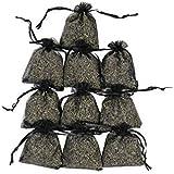 RakrisaSupplies Black Lavender Sachet Bags Pack of 15 | Natural Deodorizer, Moth Repellent, & Highest Fragrance Lavender Scent Sachets for Wedding Toss, Potpourri, Pillow, Closet, Car | LS-003