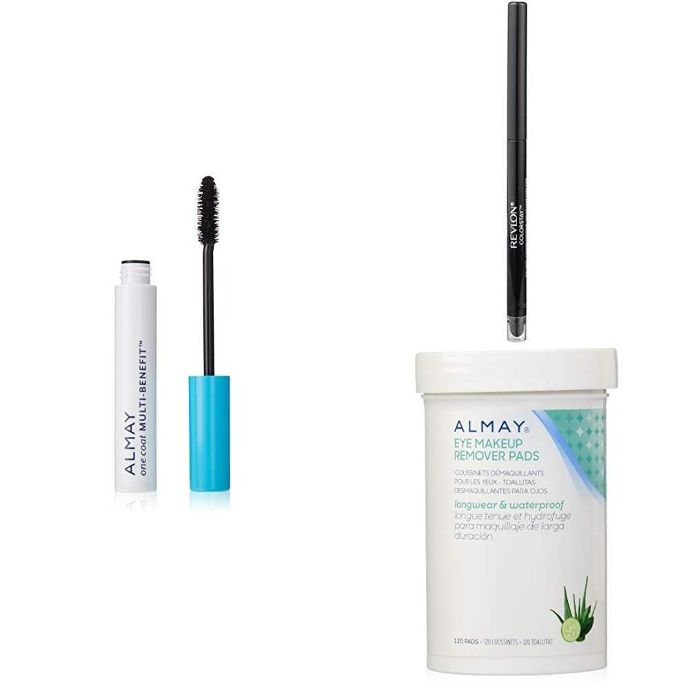 Amazon.com : Revlon & Almay Perfect Eye Collection - Almay One Coat Multi-Benefit Mascara, Revlon ColorStay Eyeliner & Almay Longwear Eye Makeup Remover ...