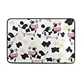 Chen Miranda Cute Cow Pattern Door Mat Carpets Indoor Outdoor Area Rugs Office Door Mat Non-slip for Bedroom Bathroom Living Room Kitchen Home Decorative 23.6x15.7 inch Lightweight